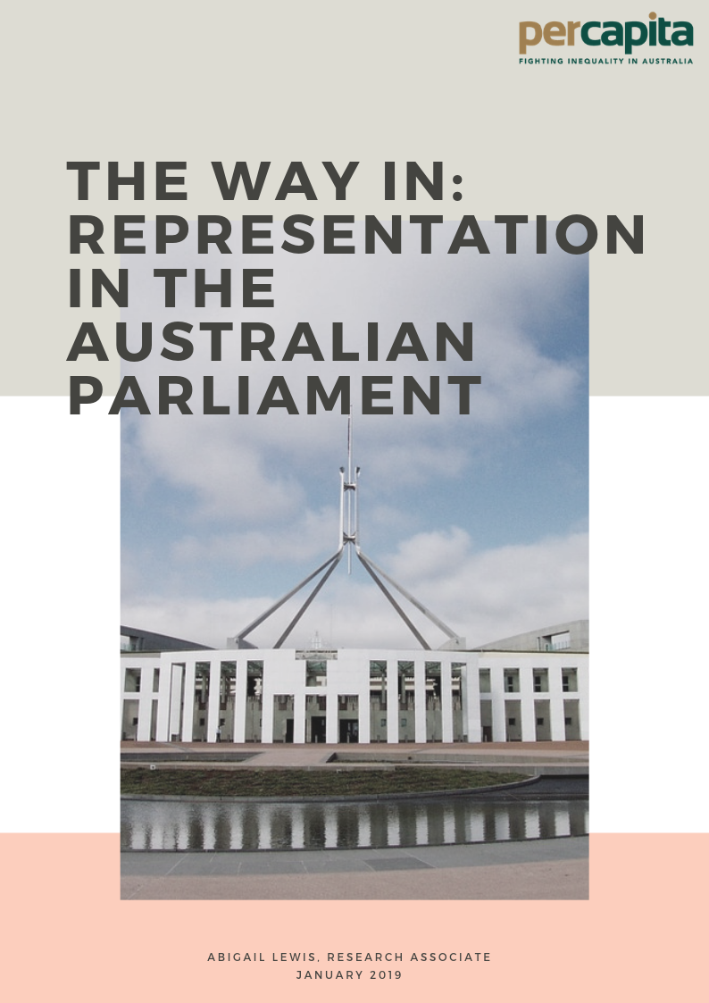 The Way In: Representation in the Australian Parliament